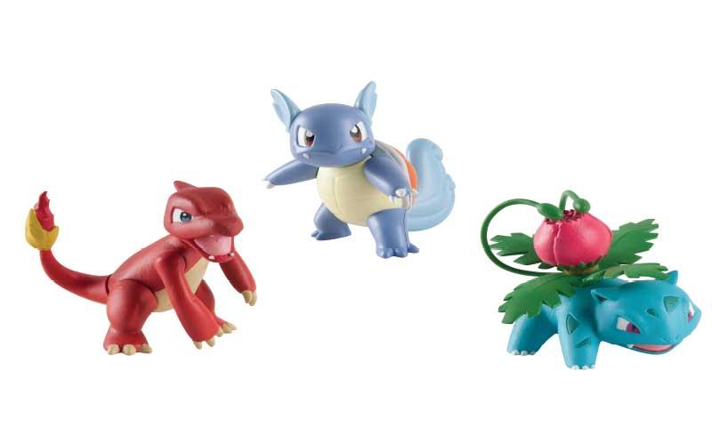 9 figurines pokemon tomy